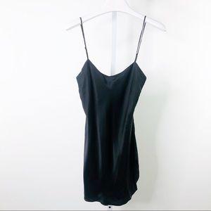 VINTAGE VICTORIAS SECRET | Silk Black Slip Dress